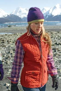 duluth women model amanda in cortland quilted vest Fall Gear Gets it Done