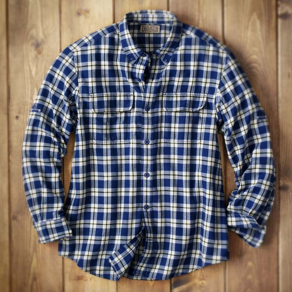 Duluth Trading Company Men's Crosscut Flannel Shirt #64503