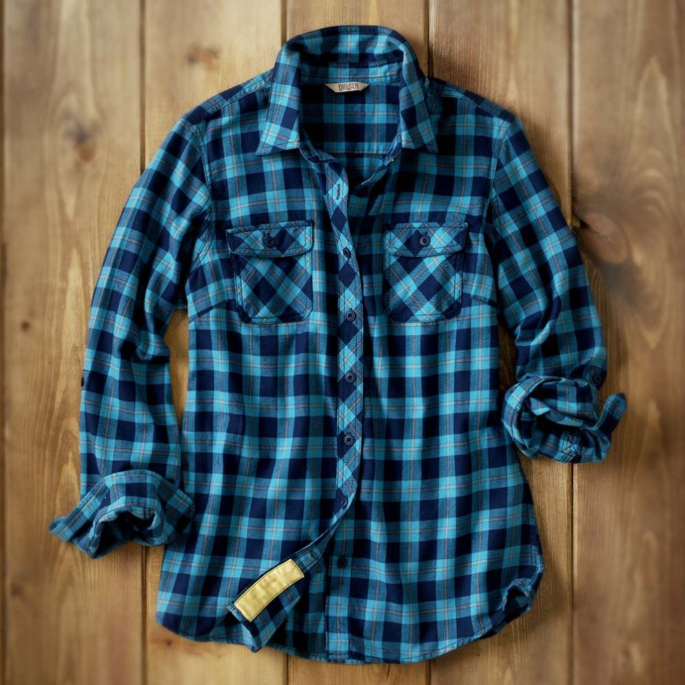 Duluth Trading Company Women's Crosscut Flannel #65500