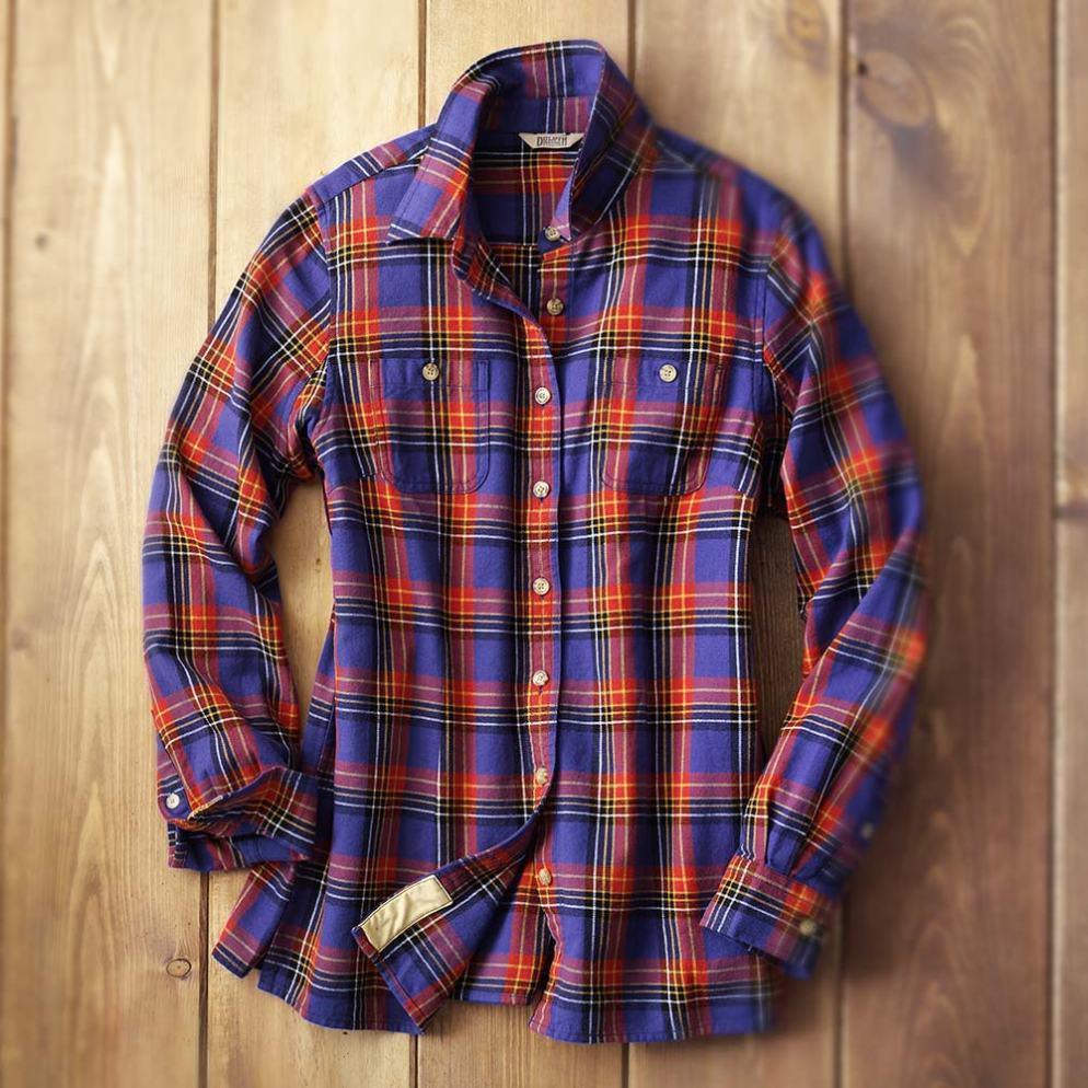 Duluth Trading Company Women's Free Swingin' Flannel #65505
