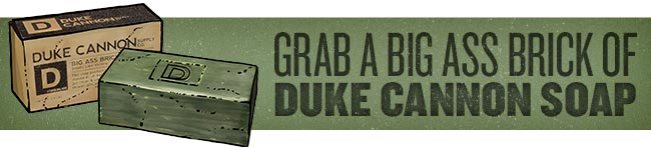 Hilarious (but Useful) Gag Gifts: Duke Cannon Big Ass Brick of Soap - Victory Scent