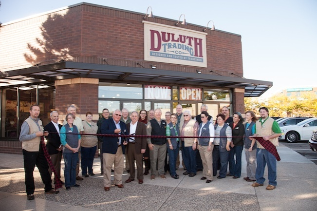 The Duluth way to open a store - flannel and sharpened steel.