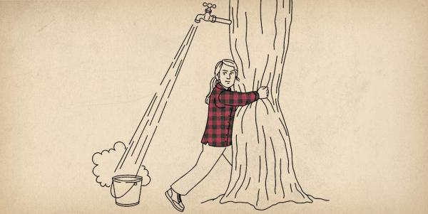 Women's Free Swingin' Flannel Shirt Ad