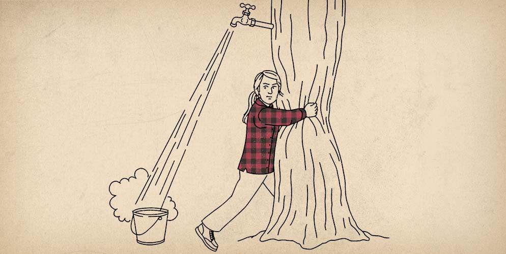 Women's Free Swingin' Flannel Shirt Ad