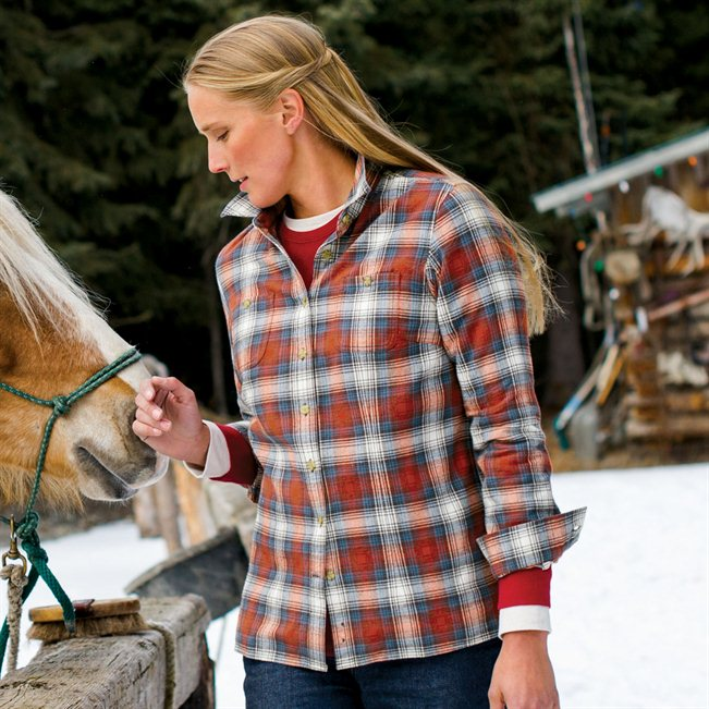 Women's Christmas Gift: Free Swingin' Flannel Shirt