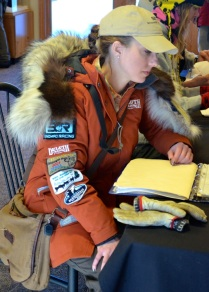 Amanda at musher registration.