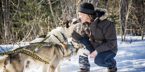 Duluth Women Model and Sled Dog Racer Amanda Vogel, Snomad Racing