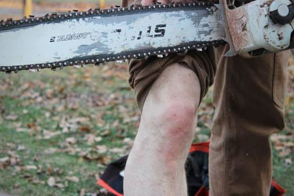 Lucky S.O.B. - STIHL Chainsaw vs. Fire Hose Pants