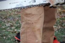 lucky sob stihl chainsaw vs fire hose pants tough pants #LuckySOB: Chainsaw vs. Fire Hose Pants