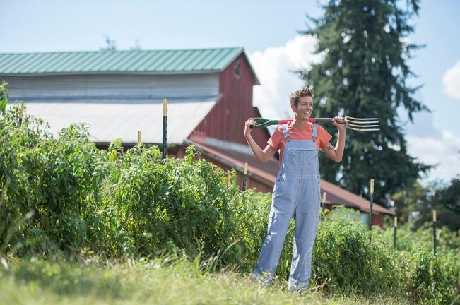 Garden Clothes: Railroad Striped Overalls