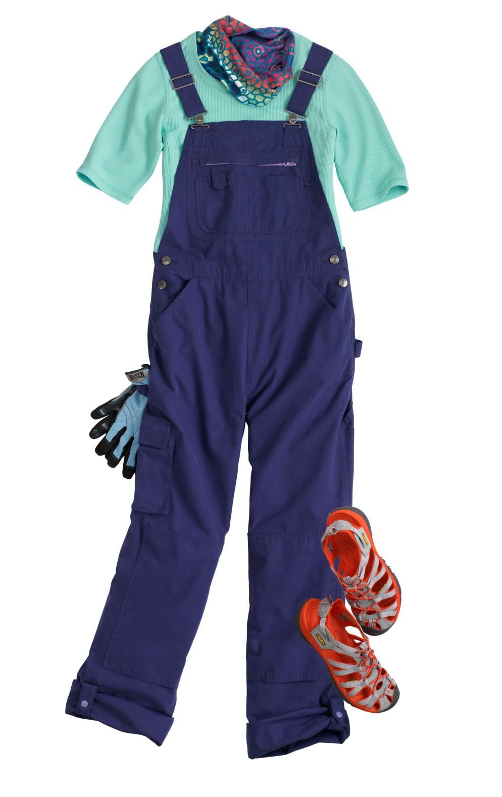 Gardening Clothes: Heirloom Garden Overalls #56955 - No Sweat Waffle Longtail T Shirt #73526