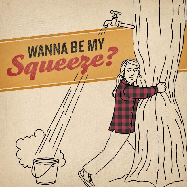 "Valentine featuring Free Swingin' Flannel Shirt says ""Wanna Be My Squeeze?"""
