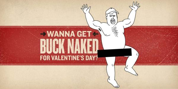 Valentine's Day Cards & Gifts For Men: Buck Naked Underwear