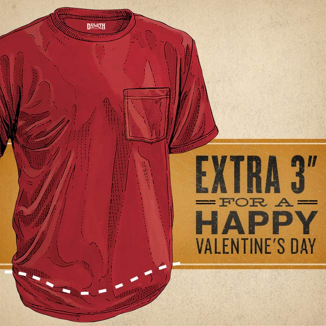 "Valentine featuring Longtail T Shirt says ""Extra 3"" For A Happy Valentine's Day"""