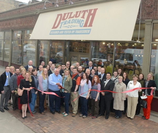 The Duluth, MN Store Management Team and City Officials kick off the festivities.