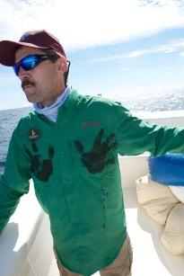 100 lb. yellowfin tuna sure is bloody!