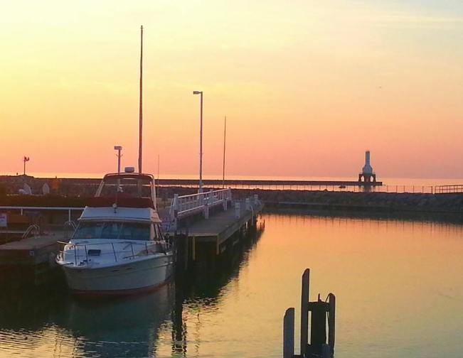 Sunrise over the marina.
