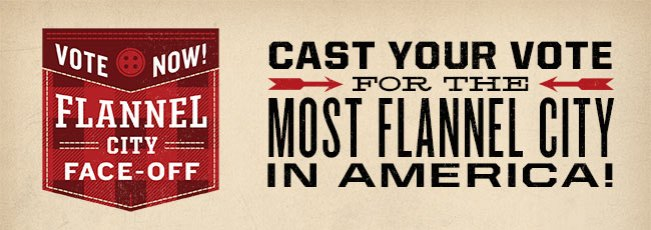 #Flannelytics: Flannel City Face-Off to Pick America's Most Flannel City