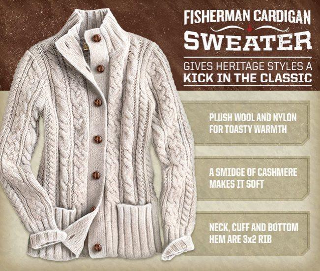 Women's Fisherman Cardigan Sweater