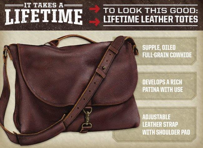 Women's Lifetime Leather Messenger Bag Item #49001