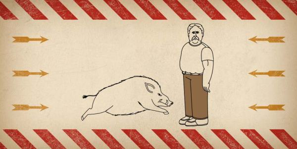 #LuckySOB: Wild Boar vs. Fire Hose Jeans