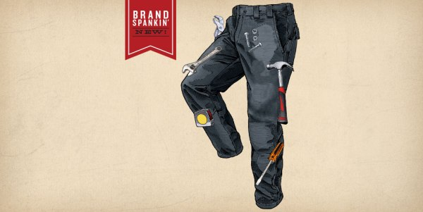 Men's Magnetic Fire Hose Work Pants