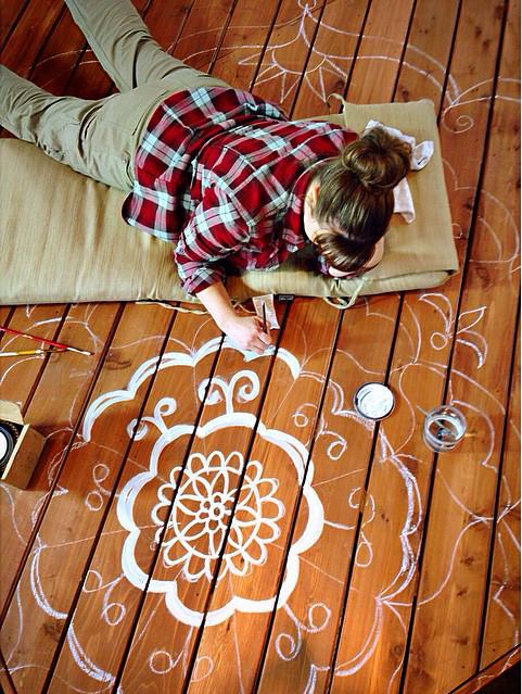 Brittany Bailey Pretty Handy Girl Deck Mandala #DIYCourage