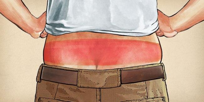Sunburned Roofer Needs a Longtail T Shirt!