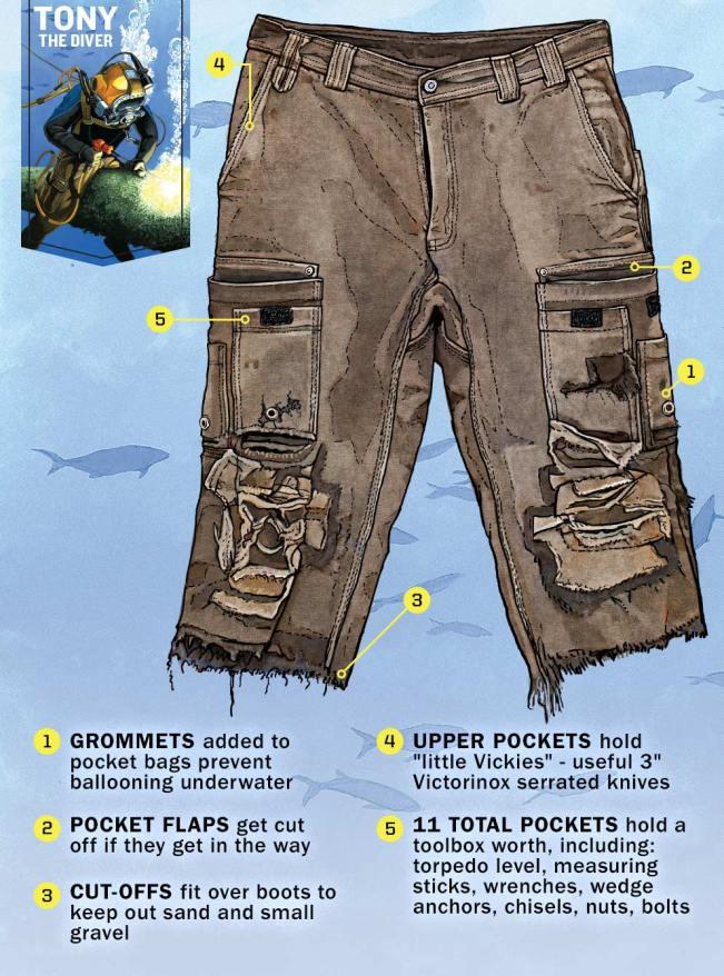 Tony The Diver Fire Hose® Work Pants Hacks