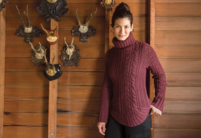Sweaters for Women: Fisherman Sweater Turtleneck