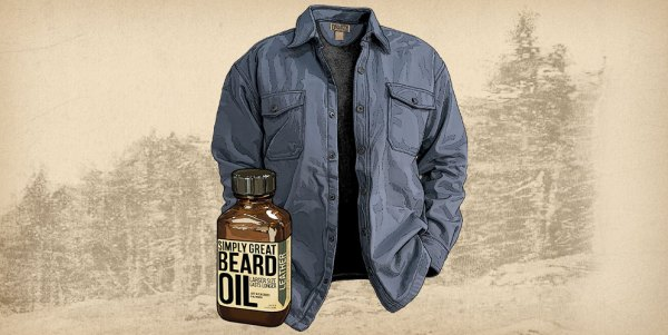 Men's Fire Hose® Shirt Jac & Simply Great Beard Oil Leather Scent