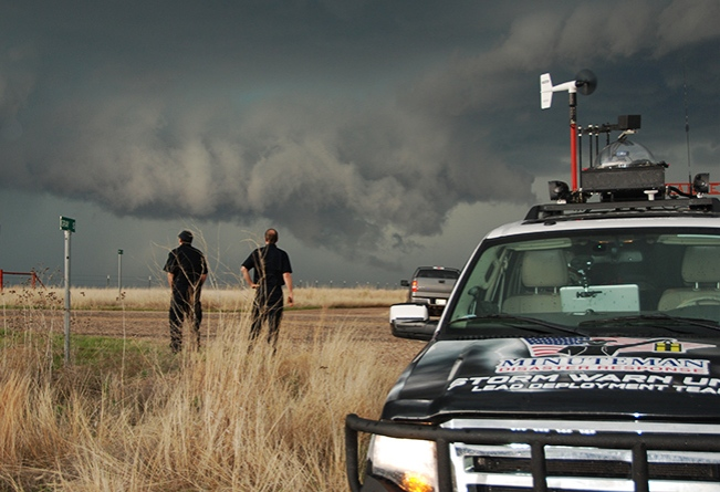 Minuteman Storm Chasers Observing Stormy Weather