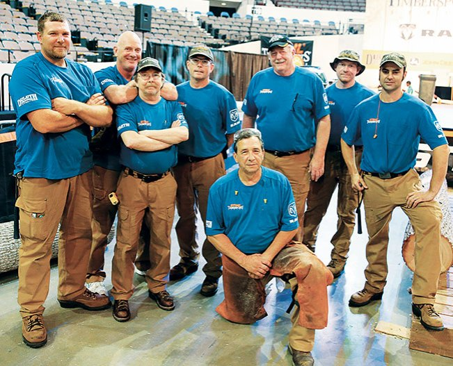 STIHL® TIMBERSPORTS® Wood Monkeys in Duluth Trading Workwear and Boots